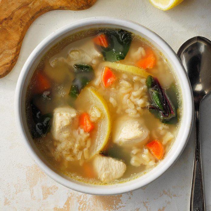 Lemon Chicken & Rice Soup