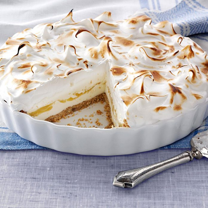 Lemon Meringue Ice Cream Pie