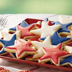 Lemon Nut Star Cookies