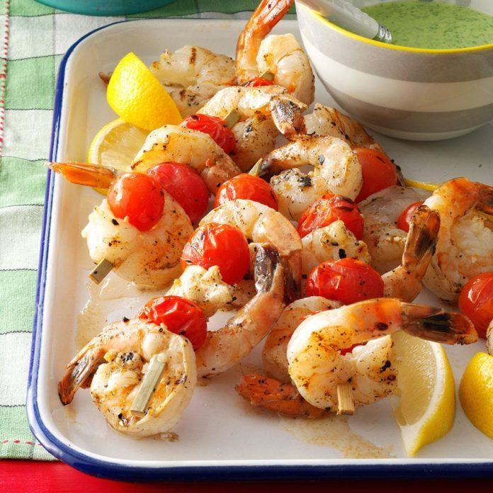 Lemony Shrimp & Tomatoes