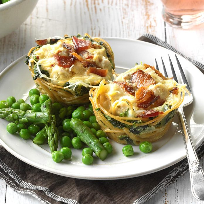 October: Loaded Chicken Carbonara Cups