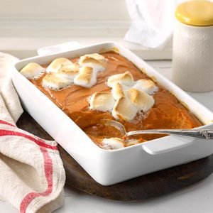 Mallow-Topped Sweet Potatoes