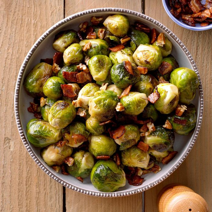 Maple & Bacon Glazed Brussels Sprouts