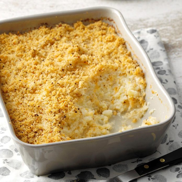 Mashed Cauliflower au Gratin