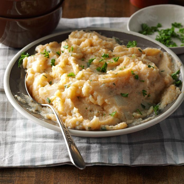 Mashed Peppery Turnips