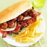 Meatball Hoagies with Seasoned Fries