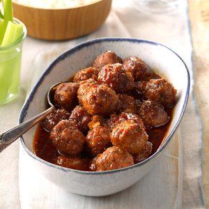 Meatballs in Honey Buffalo Sauce