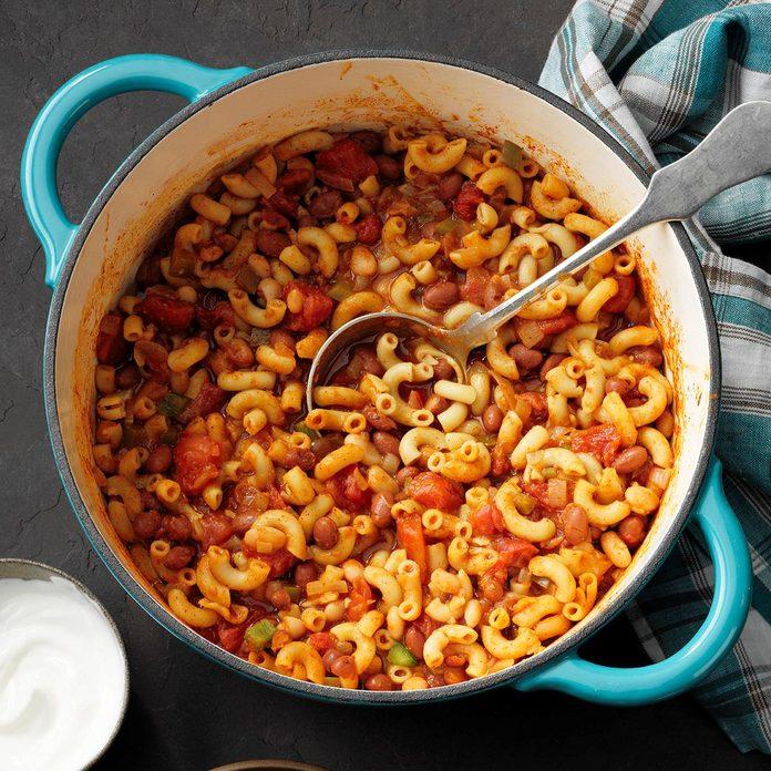 Meatless Chili Mac