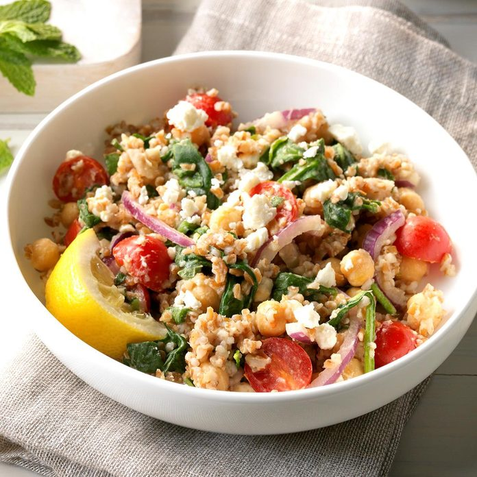 Day 3 Lunch: Mediterranean Bulgur Bowl