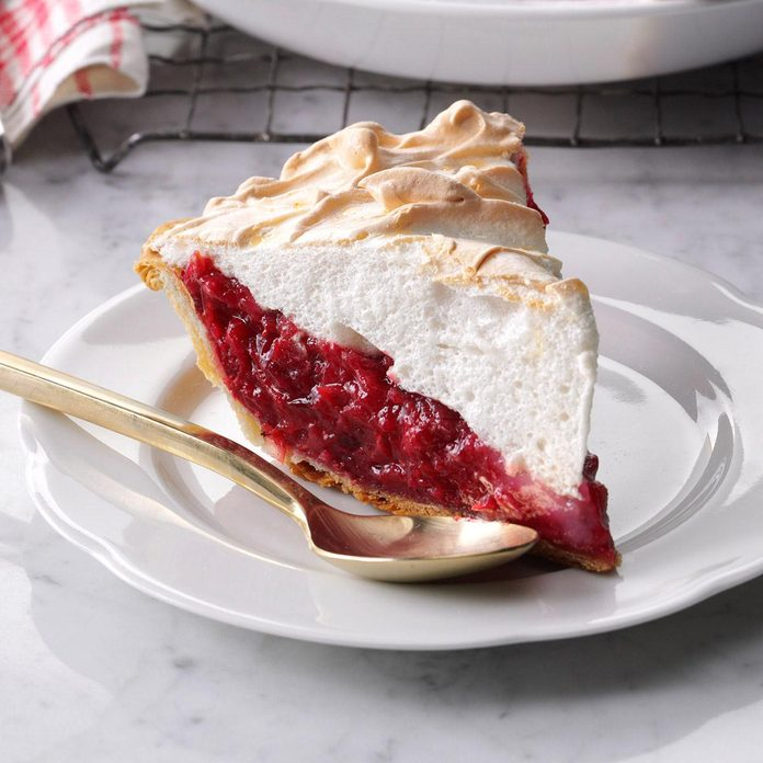 Mile-High Cranberry Meringue Pie