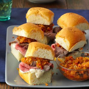 Mini Rosemary-Roast Beef Sandwiches