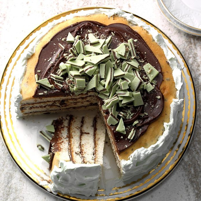 Minted Chocolate Torte