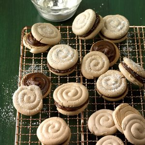 Mocha Meringue Sandwich Cookies