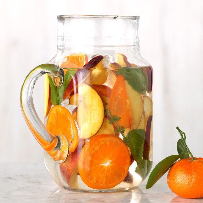 Nectarine, Basil and Clementine Infused Water