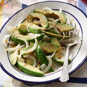 No-Fuss Avocado Onion Salad