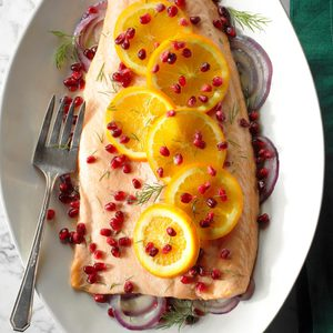 Orange Pomegranate Salmon