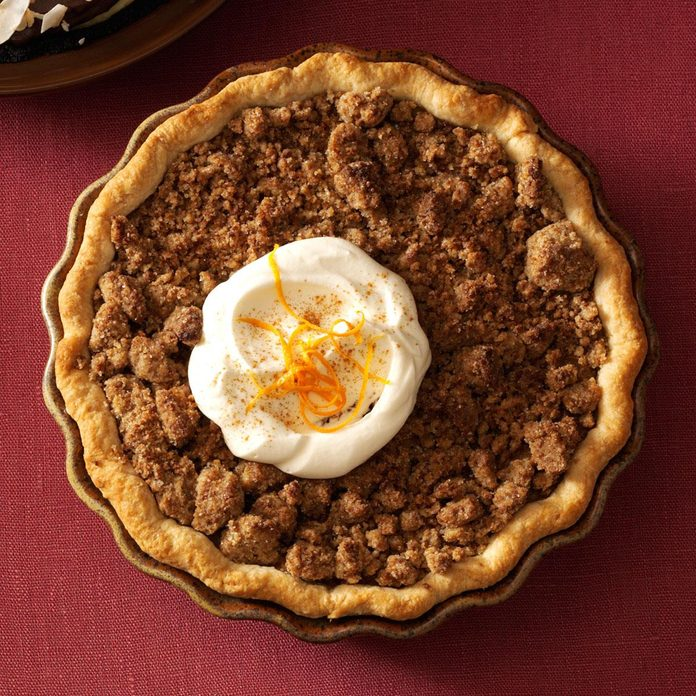 Orange Sweet Potato Pie with Ginger Streusel