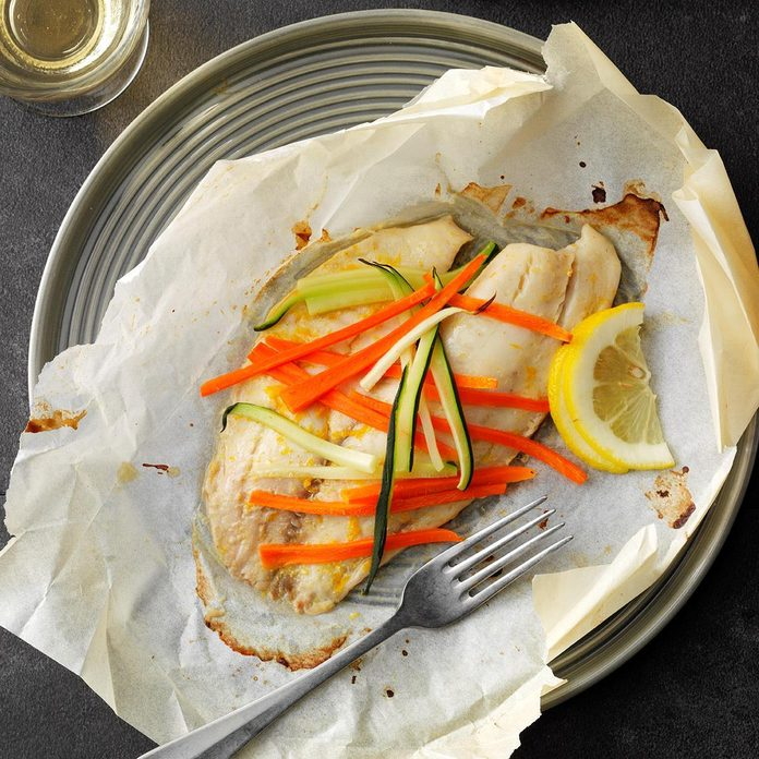 Orange Tilapia in Parchment