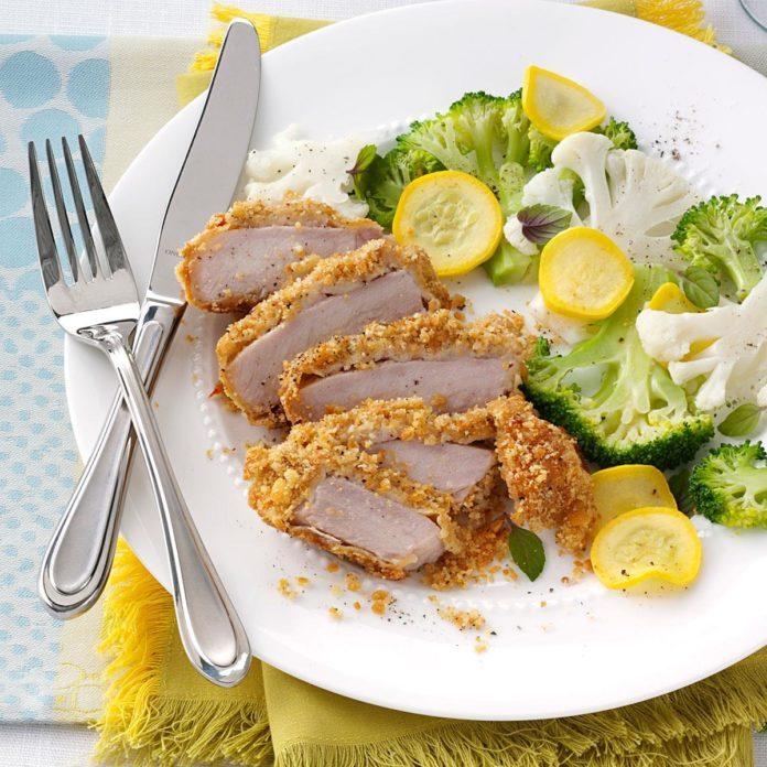 Parm-Breaded Pork Chops