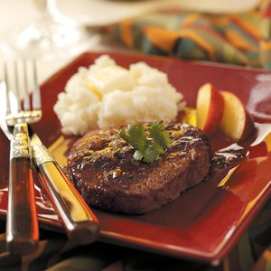Peach-Glazed Beef Filets