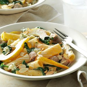 Pear & Turkey Sausage Rigatoni