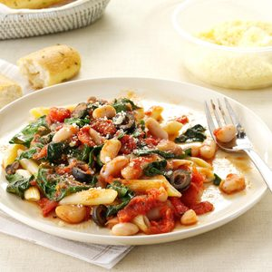 Penne with Tomatoes & White Beans