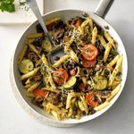 Penne with Veggies and Black Beans