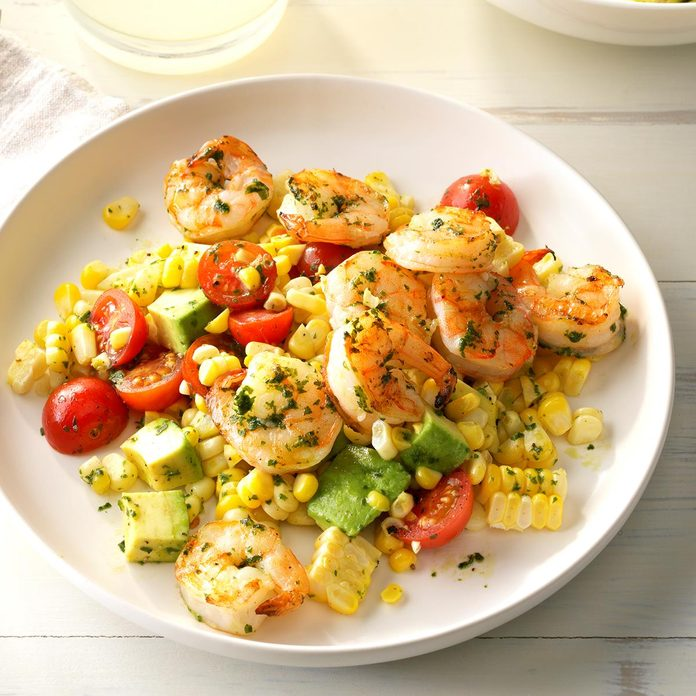 Day 5: Pesto Corn Salad with Shrimp
