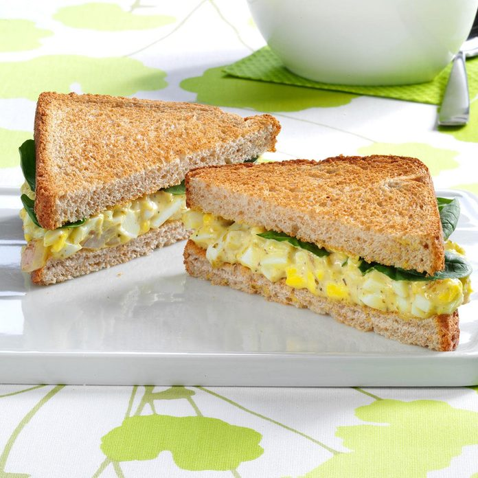 Pesto Egg Salad Sandwiches