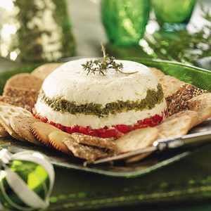 Pesto-Pepper Cheese Spread