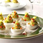 Pickled Pepperoncini Deviled Eggs