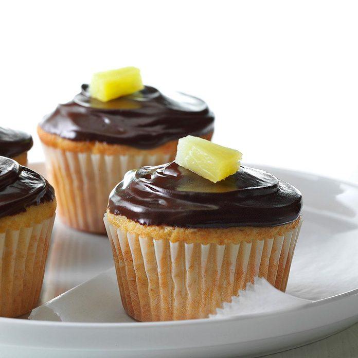 Pineapple Marzipan Cupcakes