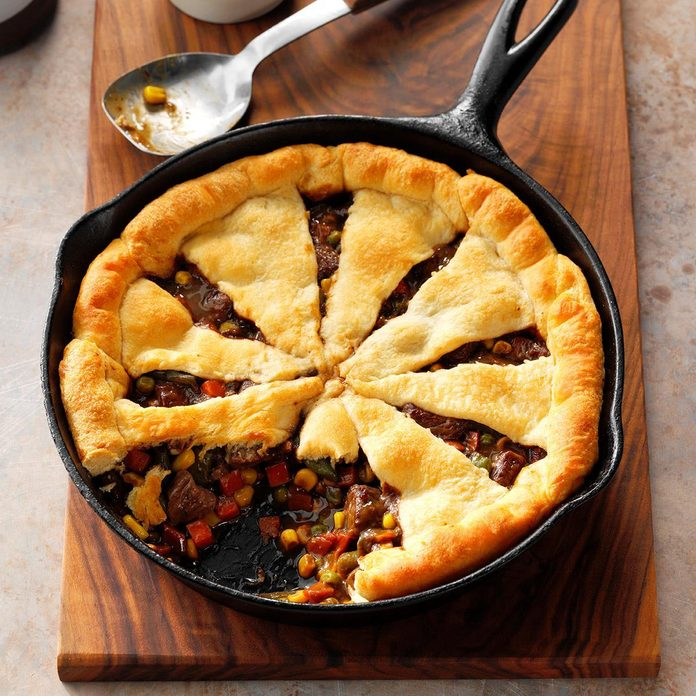 Pinwheel Steak Potpie