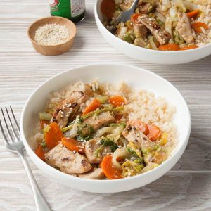 Pork Cabbage Stir-Fry