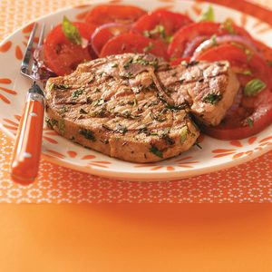 Pork Chops with Herb Pesto