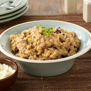 Portobello Risotto with Mascarpone