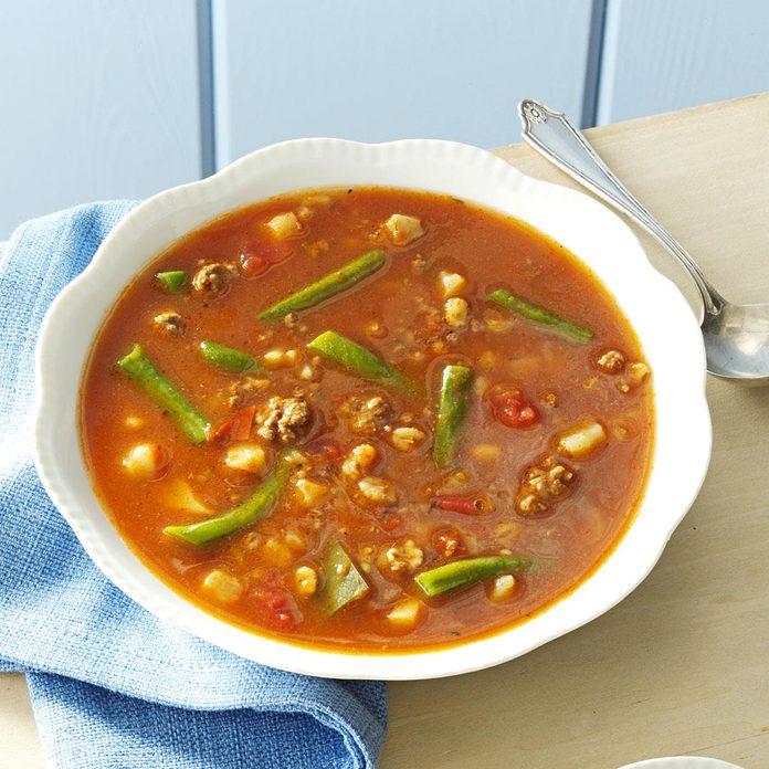 Potato-Beef Barley Soup