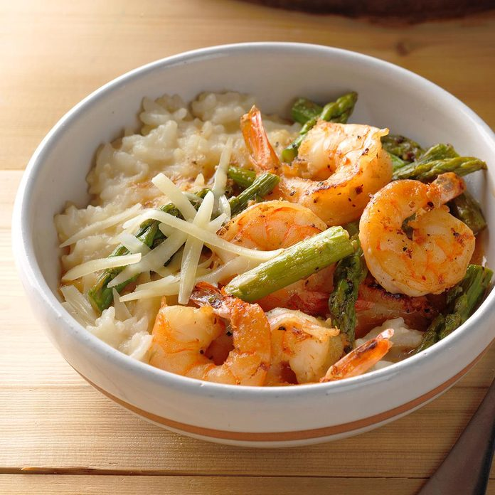 Pressure-Cooker Risotto with Shrimp and Asparagus