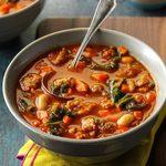 Pressure-Cooker Italian Sausage & Kale Soup