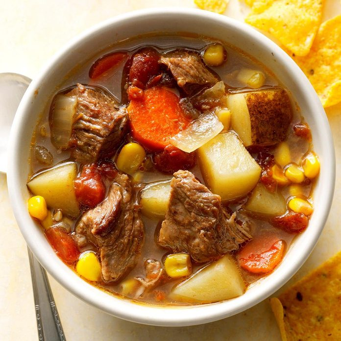 Day 23: Pressure-Cooker Mexican Beef Soup