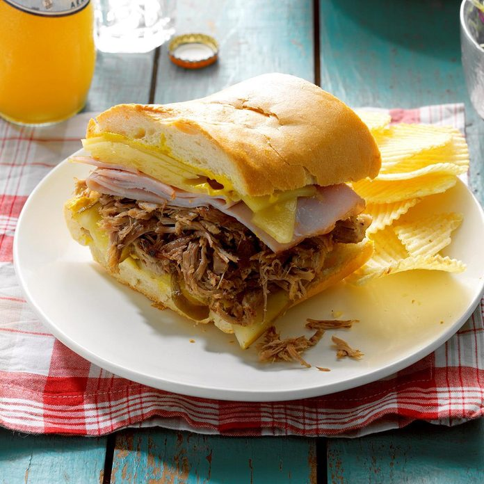 Pressure-Cooker Cuban Pulled Pork Sandwiches