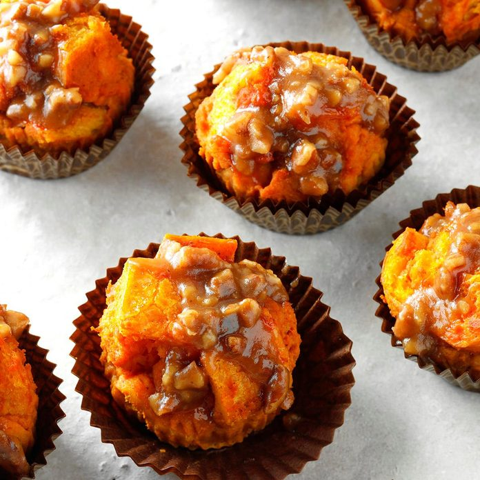 Pumpkin Bread Pudding Cupcakes