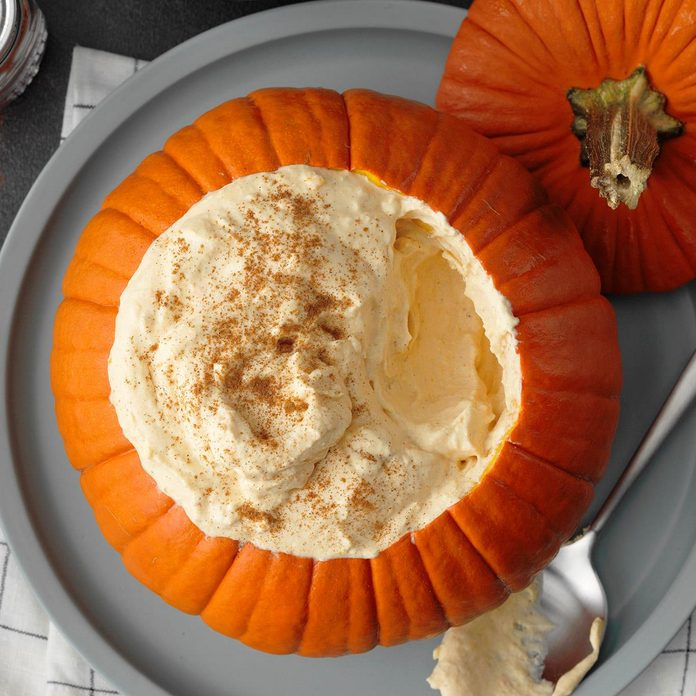 Pumpkin Mousse in a Pumpkin