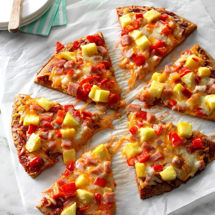 Quick Hawaiian Pizza