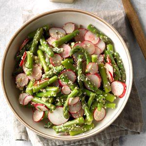 Radish Asparagus Salad