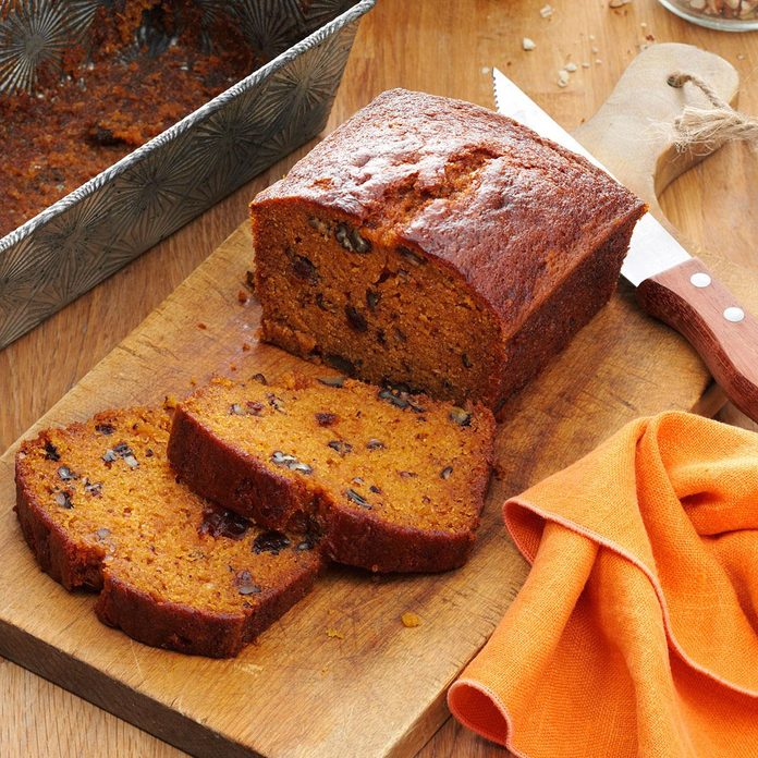 Raisin-Filled Pumpkin Spice Bread