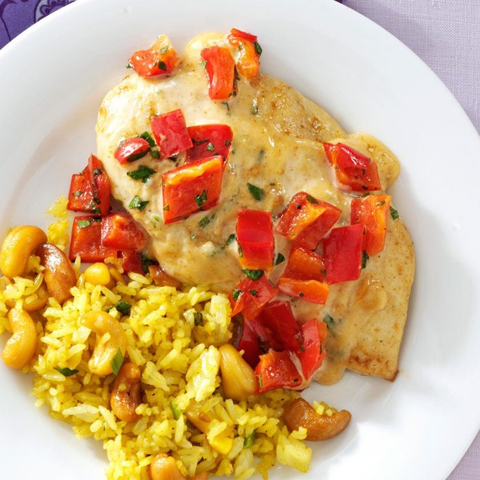 Red Pepper-Curry Chicken