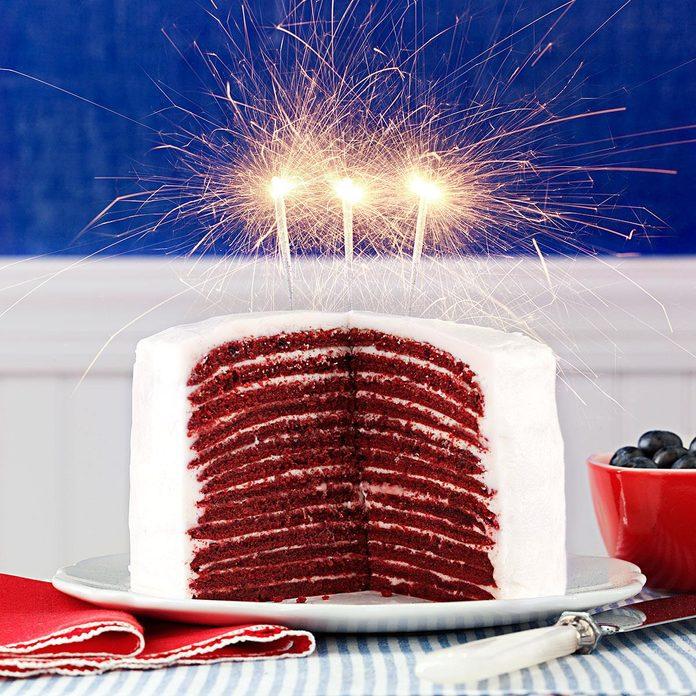 Red Velvet Crepe Cakes