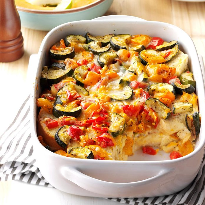 Day 15: Roasted Vegetable Strata