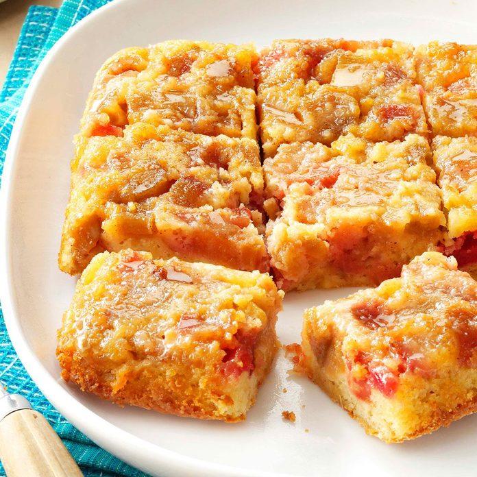 Rosy Rhubarb Upside-Down Cake